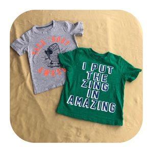3T Carter's 2 T-shirt bundle